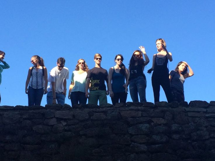 A bunch of guiris looking lost in a small village in Salamanca province.